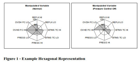 Hexagonal display example